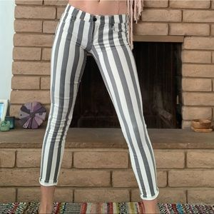 nordstrom pin striped jeans